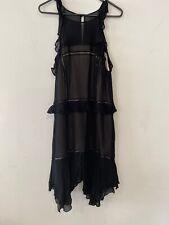 Forever New Black Floaty Dress Size 16