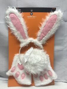 Hyde and Eek Adult Bunny Halloween Accessory Set Headpiece Tail Cuffs