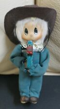 """Vintage Mimsy 7"""" Collectable Cowgirl On Stick Horse Doll"""