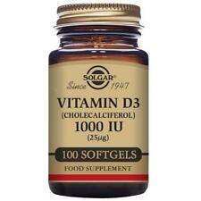 Solgar Vitamin D3 1000 IU (25 µg) Softgels - Pack of 100