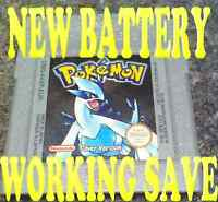 GENUINE POKEMON SILVER VERSION NEW BATTERY WORKING SAVE GAMEBOY GAME BOY COLOR