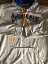 Nike Dri-Fit Cooperstown Retro VTG Seattle Mariners Hooded Sweatshirt - Sz L