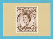 BRITISH POST OFFICE - SCARCE  PHQ  CARD  NO. D 21  -  WILDING  33p  -  2002