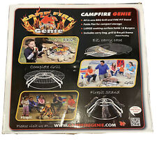 Fire Pit Grill Steel Round Outdoor Campfire Cooking Bbq Grill Camp Backyard Usa