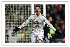 JAMES RODRIGUEZ REAL MADRID SIGNED AUTOGRAPH PHOTO PRINT  SOCCER