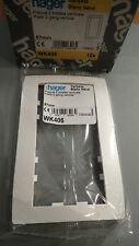 Hager WK406 - KALLYSTA - Plaque Verticale 2 postes 57mm Blanc Nève - A l'unité