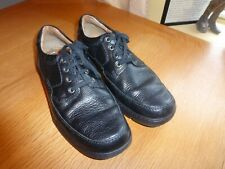CLARKS COLLECTION SIZE 8.5UK BLACK LEATHER MUTED SHINE LACE UP COMFORT IN VGC