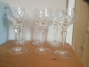 STUART CRYSTAL - IMPERIAL - LARGE  WINE GLASSES X 6