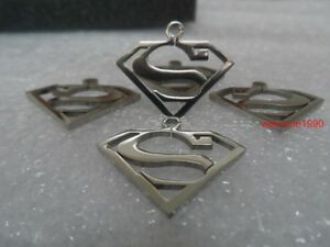 10pcs Lot Superman pendant charms Stainless steel DIY jewelry Findings small