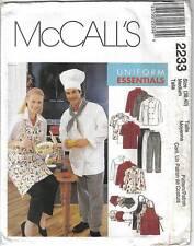 McCalls Pattern 2233 Uniform Essentials Chef Jacket Toque more Med 38-40 Uncut