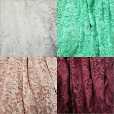 100% Polyester Floral w/ Scallop Border See-through Mesh w/ Glitter Fabric