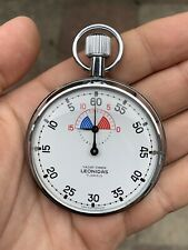 Vintage Heuer Leonidas Yacht Timer Stopwatch 55mm Swiss Made