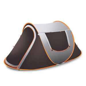 Automatic Outdoor Tent 210D 3-4 Family Camping Rain Proof Quick-Opening