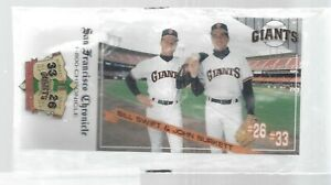 John Burkett & Bill Swift 20 Game Winners San Francisco Giants Pin Back NIB