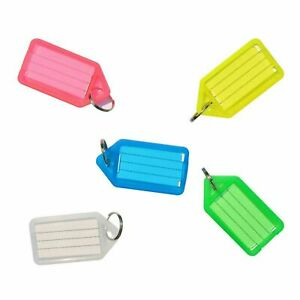 CLICK TAGS KEY TAGS KEYRINGS MIX COLOUR PLASTIC ID NAME LABEL FOB  RING