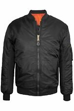 NEW MEN'S REVERSIBLE FLIGHT BOMBER JACKET, BLACK, SIZES S-XL