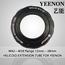 【YEENON】M42 to M39 x 15mm Focusing Helicoid Macro Extension Tube