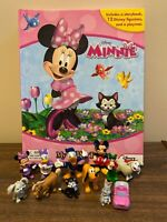 Disney Minnie Mouse My Busy Books Playset 12 Figurines Playmat Storybook Set