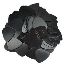 Lots of 100 pcs 0.71mm Medium Guitar Picks Celluloid No Print Solid Black