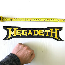 MEGADETH BAND METAL X-LARGE BACK SEW ON PATCH LOGO NEW RARE
