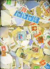 4000+ MIXED WORLD STAMPS ON PAPER, FREE SHIPPING
