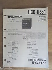 Schema SONY - Service Manual Compact Disc Deck Receiver HCD-H551 HCDH551
