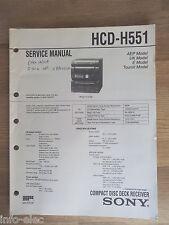 Schema SONY - Service Manual Compact Disc Deck Receiver HCD-H551 HCDH551