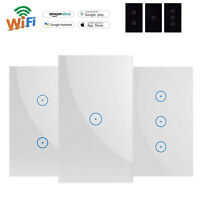 Smart Light Switch WIFI Wall Touch Panel Socket Alexa Google Home US