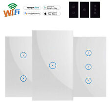 Dierya WiFi Smart Wall Touch Light Switch Glass Panel for Alexa/Google APP