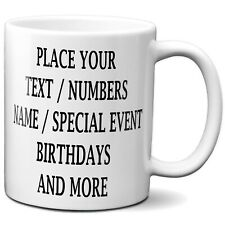 Personalized Coffee Mug, Add Your Own Message Text Name And Photo No Limits 11oz
