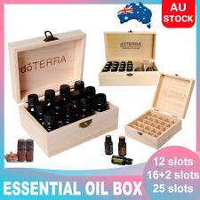 Essential Oil Storage Box Wooden 12-85 Slots Aromatherapy Organizer / Oil set