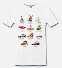 T-SHIRT MAGLIA WACKY RACES DASTARDLY AND MUTTLEY - CARTONE ANNI 80 - CULT 1