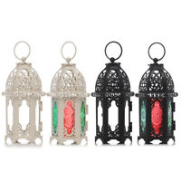 Moroccan Lantern Candle Holder Metal Glass Candleholder for Home Christmas Decor