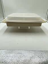 Vintage Tupperware Square Divided Dish With Lid