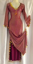 BELLY DANCE DRESS ABAYA Galabeya Baladi Costume Saidi Many Colors/Gold