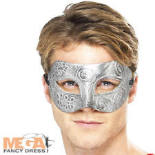 Warrior Colombina Eyemask Mens Fancy Dress Masquerade Adults Costume Mask New