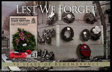 """British Indian Ocean Terr BIOT - """"WORLD WAR I ~ LEST WE FORGET"""" MNH MS 2008 !"""