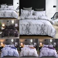 Marble Pattern Soft Bedding Sets Pillowcase Set Twin Full Queen King Duvet Cover