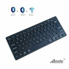 Bluetooth Keyboard, Universal Multi Device Wireless Keyboard for Win/Mac (Black)