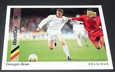 GRUN BELGIË BELGIQUE DIABLES FOOTBALL CARD UPPER DECK USA 94 PANINI 1994 WM94