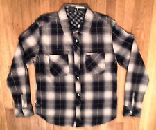 NWT TOKYO FIVE, Reversible Shirt, Black/Beige Plaid, Sz XL 100% Cotton (14)