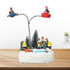 Christmas Village Pond Lighted Musical Rotating Indoor Holiday Decoration
