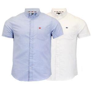 Mens Cotton Shirt Brave Soul Short Sleeved 'Senate' Collared Casual Summer New