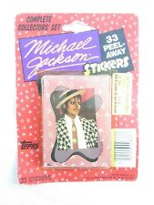 Vintage Michael Jackson Stickers Complete Collector's Set - Sealed