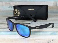 RAY BAN RB4263 601Sa1 Matte Black Blue Flash Polarized 55 mm Men's Sunglasses