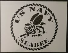 "USA US USN Navy Seabee Seabees 11"" x 8.5"" Custom Stencil FAST FREE SHIPPING"