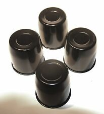 "3.18"" Push Through Wheel Center Caps, set of 4 Black  Work with Weld wheels"