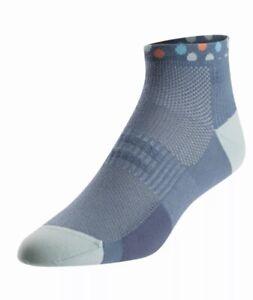 Pearl Izumi Womens Elite Low Cycling Socks Bliss S Small EU 35-38 Blue Gray