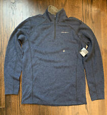 Eddie Bauer Radiator Fleece Large TALL Mens Blue NEW