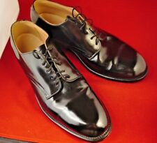 Vtg 1970s Era D.J. Leavenworth Leather Black Military Dress Shoes Men's 9.5 R